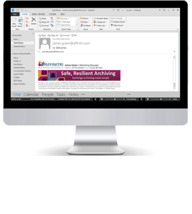 Email signatures on all devices using signature software for Microsoft Exchange