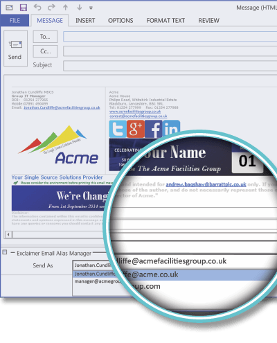Email Alias Manager | Casestudy | ACME Facilities Group