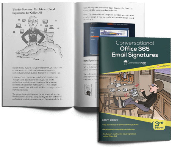 Get your free Conversational Office 365 Email Signatures e-book