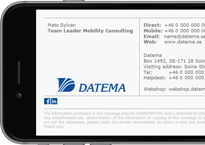 Datema Office 365 signature with full contact details.