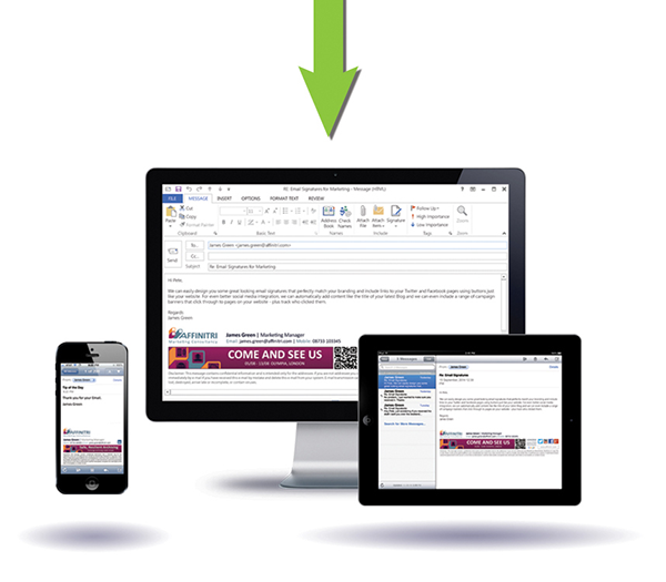 Email signatures on PCs, Macs, smartphones and tablets