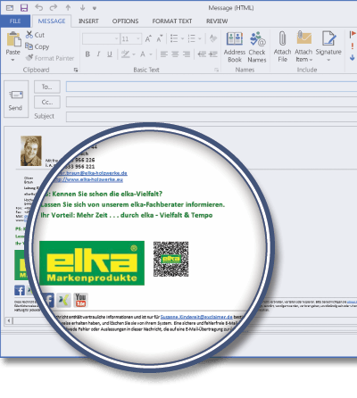 elka-Holzwerke GmbH using Signature Manager Exchange Edition