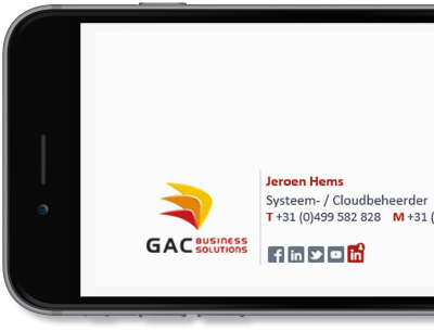 Exclaimer Cloud - Signatures for Office 365 was used for GAC Business Solutions' Office 365 signatures.