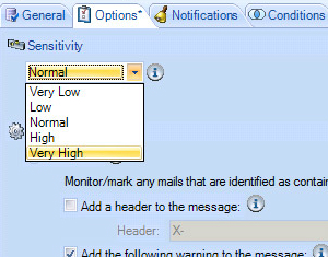 You can choose a sensitivity appropriate to your risk profile