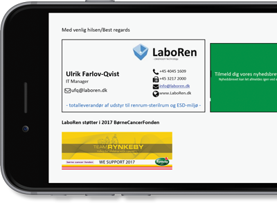 LaboRen uses Exclaimer Cloud - Signatures Office 365 for its Office 365 signatures.
