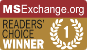 Exclaimer email signature software has been won many MSExchange.org Readers' Choice Awards.