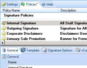 Distribute Exchange email signatures to all staff.