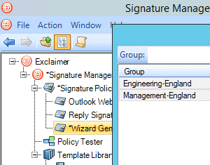 Set groups in Signature Manager Office 365 Edition