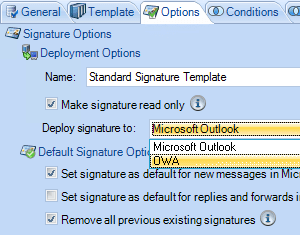 Policy Wizard in Signature Manager Office 365 Edition