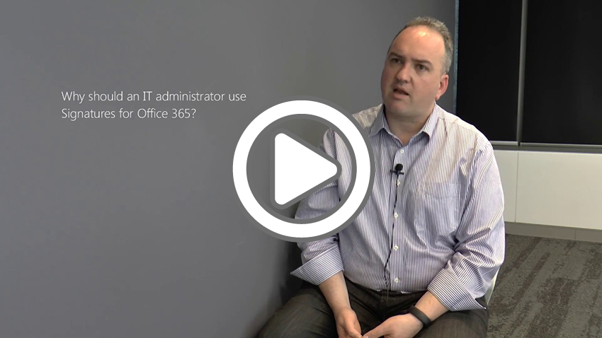[Video in Inglese] MVP Microsoft Office Servers and Services (precedentemente MVP Office 365), discute in questo video da Melbourn, Australia, i limiti di utilizzo di Office 365 per la gestione delle firme per email e come Exclaimer Cloud – Signatures for Office 365 rende l'intero processo piu' semplice.